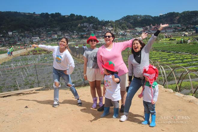 Momshie Karla, Jolina at Melai, binisita ang strawberry fields sa Baguio
