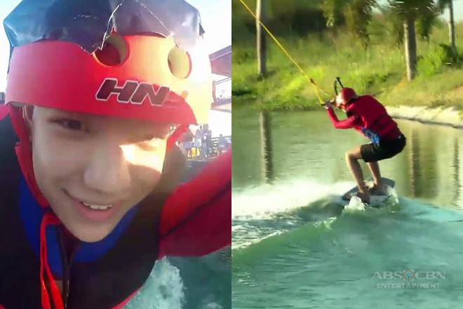 Darren, first time sinubukan ang wakeboarding