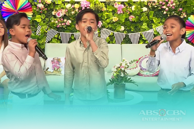 TNT Boys Francis, Mackie and Keifer sing