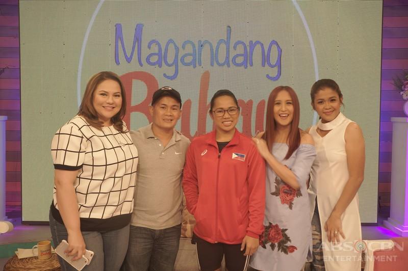 PHOTOS: Magandang Buhay with Hidilyn Diaz and Onyok Velasco