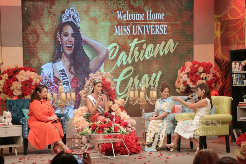 PHOTOS: Miss Universe 2018 Catriona Gray's grand welcome on Magandang Buhay