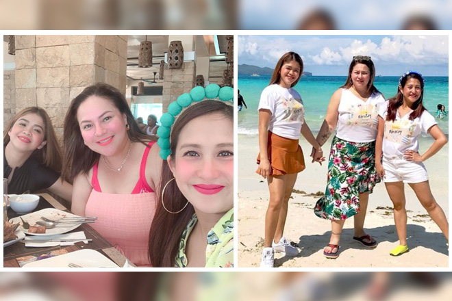 LOOK: Momshie moments of Karla, Jolina & Melai in Boracay!