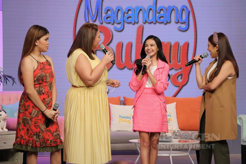PHOTOS: Magandang Buhay with Idols Zephanie Dimaranan, Lucas Garcia and Lance Busa