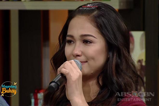 'Sobrang swerte ko': Maja Salvador bursts into tears on Magandang Buhay